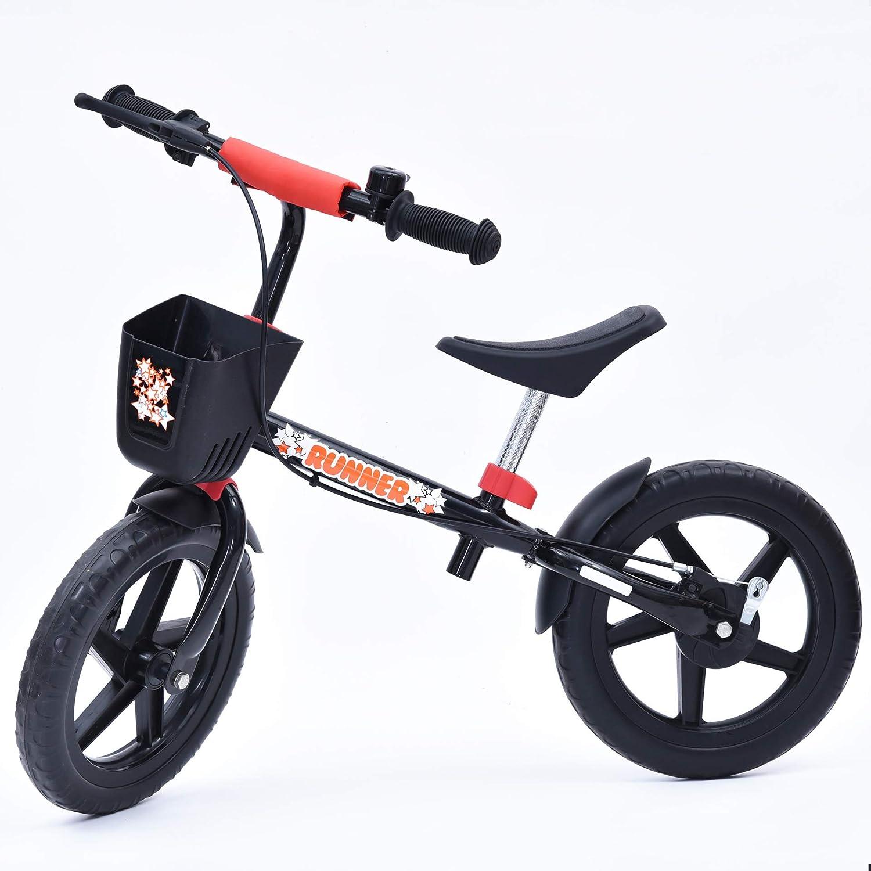 スポーツバランスバイクなしペダルウォーキング自転車炭素鋼フレーム、調整可能なハンドルバーと座席容量の年齢26歳の容易なアセンブリ  Blue B07PBTJQM7