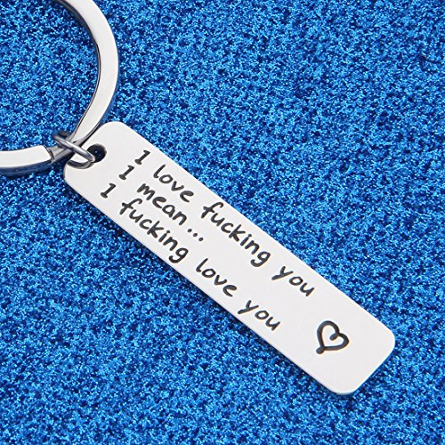 WUSUANED I Love Fucking You Keychain Valentine's Day Gift For Couples Boyfriend Girlfriend (I fucking love you keychain) by WUSUANED (Image #3)