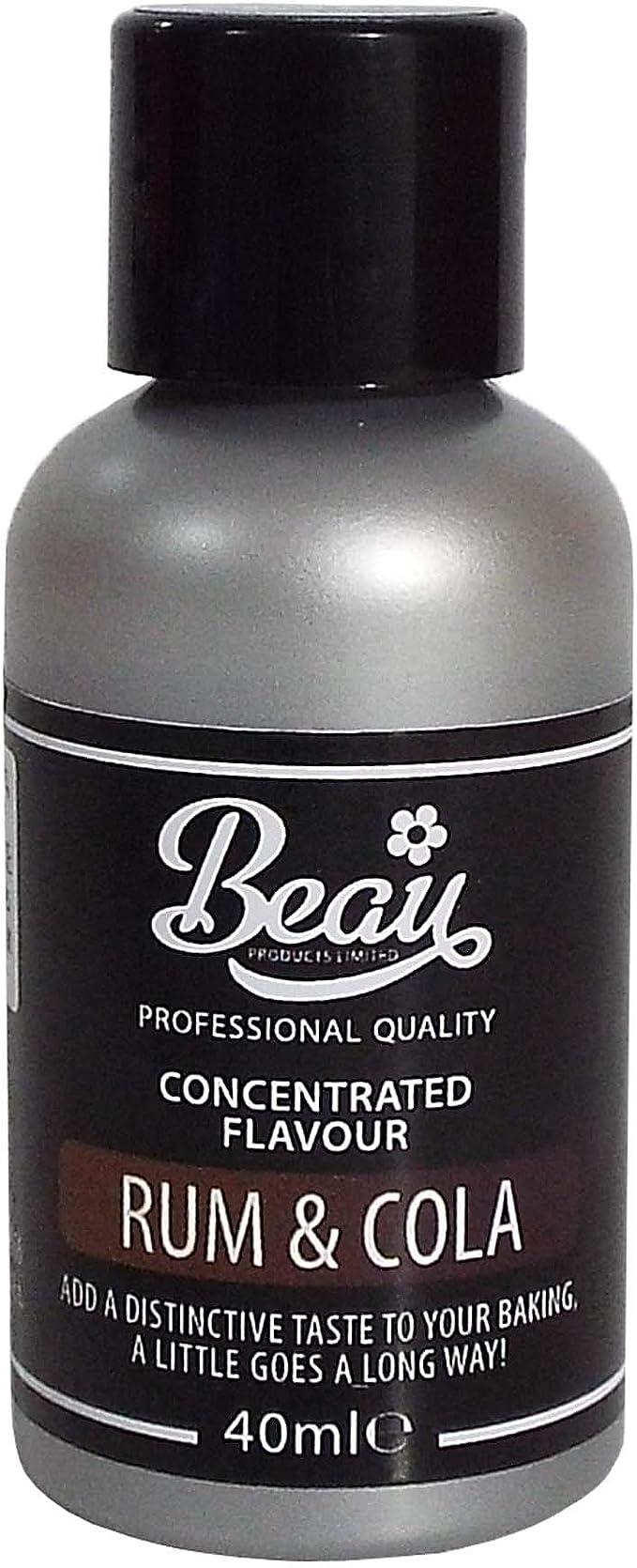 Beau Products Rum and Cola - Saborizante para alimentos (40 ml)