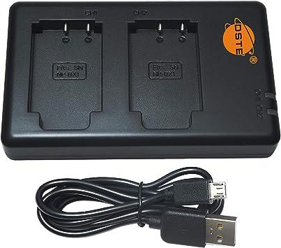 DSTE BC-TRX Batería USB Dual Quick Cargador Compatible para NP-BX1,Sony ZV1,ZV-1,Cyber-Shot DSC-RX100 VII DSC-RX100,HDR-CX405,HDR-GWP88VB,HDR-GWP88VE
