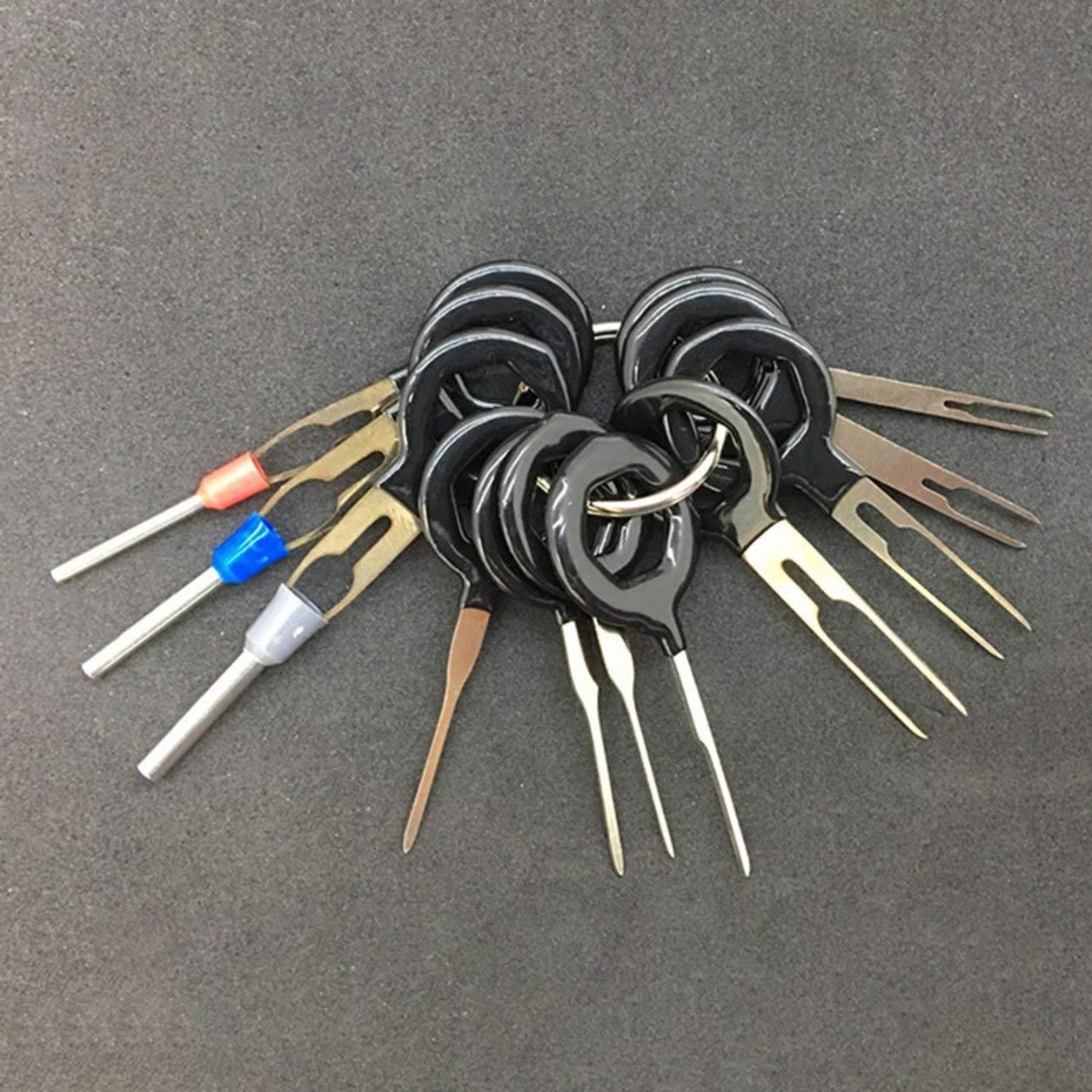 Car Terminal Kit de herramienta de eliminaci/ón de mazo de cables prensado del conector Extractor Extractor