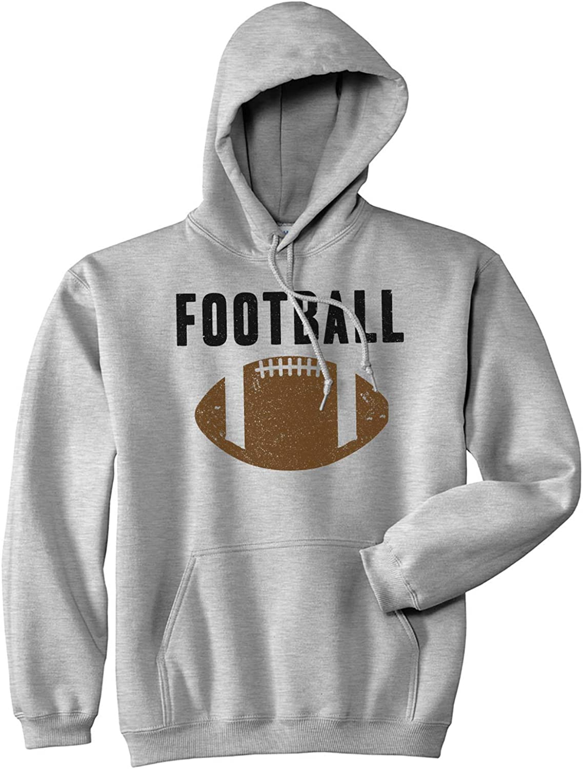 Football Love Back Print Long Sleeve Sweater for Men