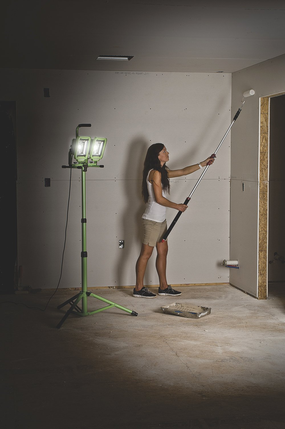PowerSmith PWL2160TS Dual-Head 60W 6000 Lumen LED Work Light with Detachable Metal Lamp Housing and Metal Telescoping Tripod (9Ft Power Cord) by PowerSmith (Image #3)