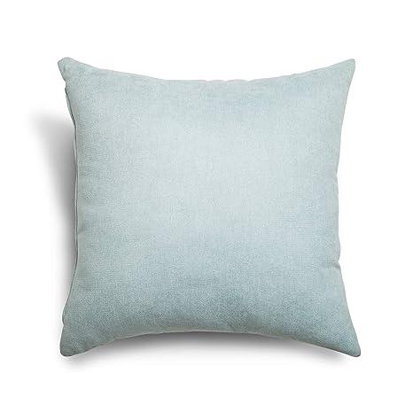 SuenosZzz- COJIN Relleno. Cojines Decoracion, Sofa,Cama, tapizado Acualine Antimanchas Verde Agua. Medidas: 48x48. Decoracion CASA.
