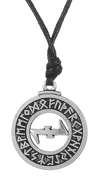 d1fd439bb33f7 Dawapara Pagan Wolfangle Protection Symbole Elder scandinaves Collier  Pendentif Runes Viking Bijoux