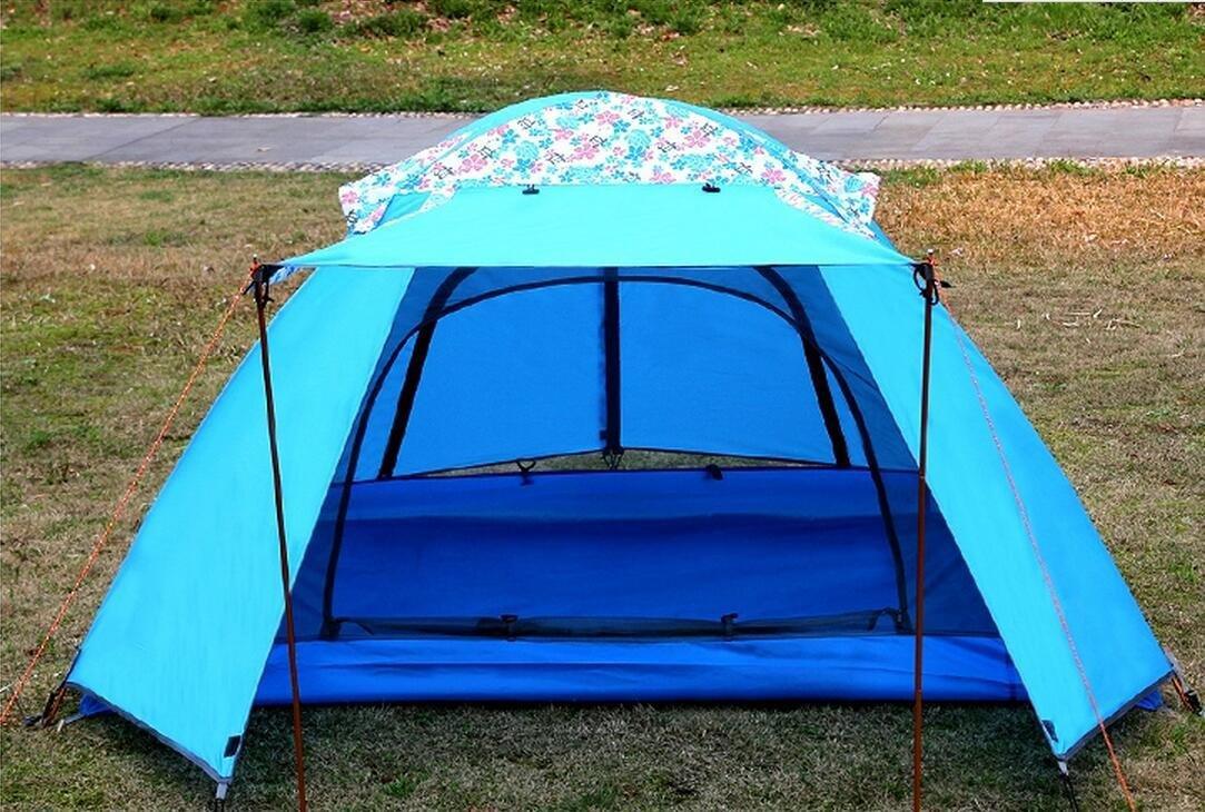 Portable Outdoor Anti-Uv Family Zelte Family Anti-Uv Beach Wasserdicht Folding Große 2 Personen Kuppel Zelt (50 + 130 + 30)  210  115cm b3ad1e