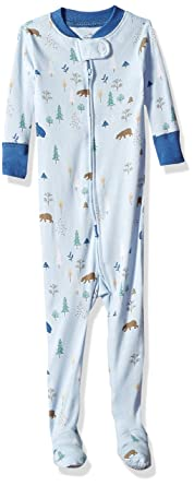 dc7b90cee Amazon.com  Moon and Back Girls  Organic One-Piece Footed Pajamas ...