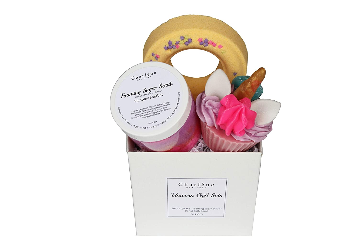 Amazon Charlene New York Unicorn Gift Set For Kids Teens Women Best Birthday Gifts Ideas Includes 3 Amazing Products Sugar Scrub Bath