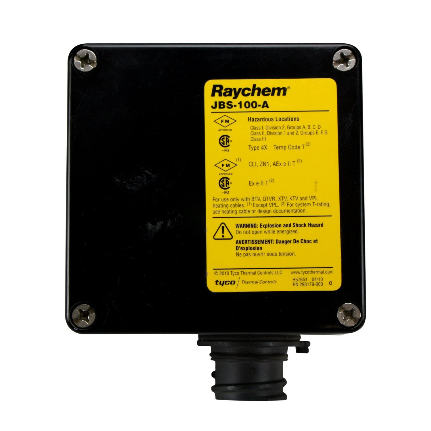 Raychem Tyco Jbs-100-A Heating Cable Power Connection Junction Box