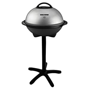 George Foreman 15-Serving Indoor/Outdoor Electric Grill, Silver, GGR50B (Certified Refurbished)