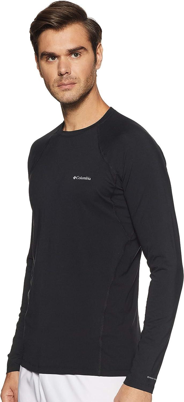 Columbia Hombre Camiseta Interior de Manga Larga, Transpirable, Midweight Stretch