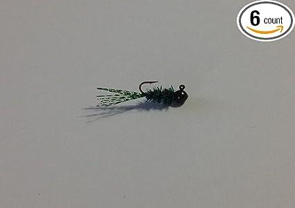 19 pk 1//8 oz Round Head Crappie Fishing Jigs Red Aberdeen Hooks