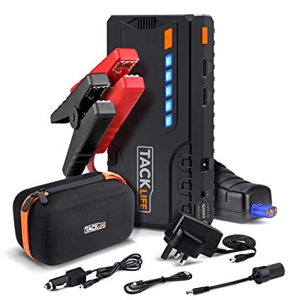 Car Jump Pack >> Tacklife T6 Portable Car Jump Starter 600a Peak 16500mah Power Pack Auto Battery Booster Up To 6 2l Gas Or 5 0l Diesel 12v Jump Pack With Quick