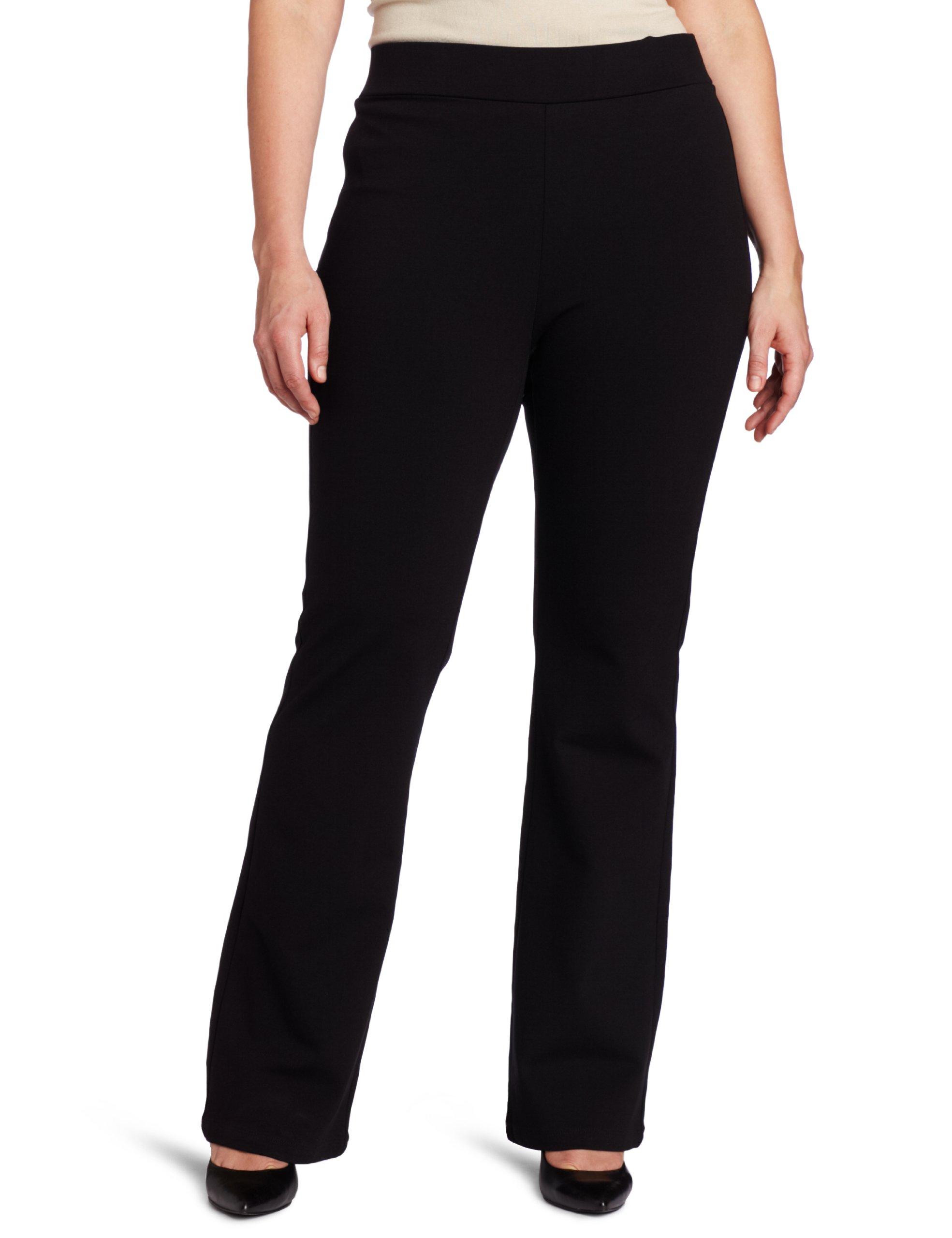 NYDJ Women's Plus-Size Belinda Ponte Bootleg Pant, Black, 20W