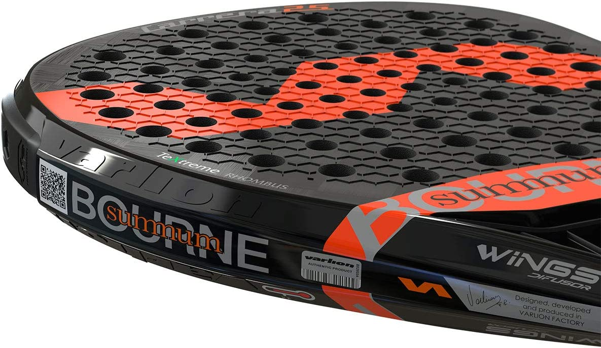 VARLION Bourne Summum Carrera 25 S Pala de pádel, Naranja/Negro ...