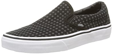 Vans Classic Slip-on, Unisex-Erwachsene Sneakers, Schwarz (Wool Dots/Black/True White), 36.5 EU