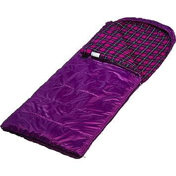 Skandika Dundee - saco de dormir rectangular - 220x80cm - acoplable - Forro: franela/algodón (morado/izquierda): Amazon.es: Deportes y aire libre