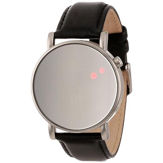 Binary The One OR113R1 - Reloj digital unisex de cuarzo con correa de cuero negro, sumergible a 30 metros: Amazon.es: Relojes