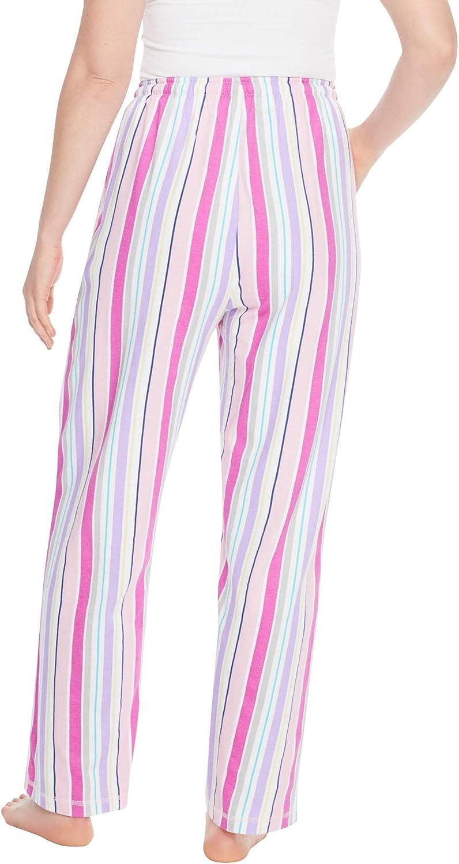 Womens Plus Size Knit Sleep Pant Pajama Bottoms 3X Heather Grey Multi Dreams /& Co