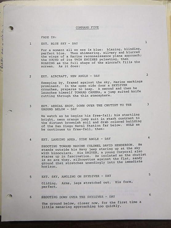 Command 5 Script Lot Pilot + Unproduced