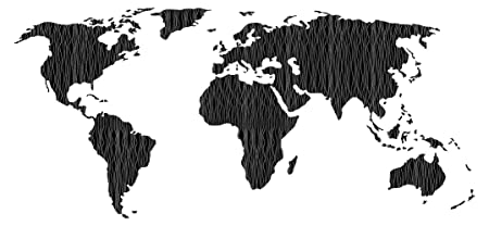 World Map Of Continents And Countries.Wall Sticker Black Worldmap Continents Countries Tattoo Earth Wall