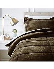 AmazonBasics Ultra-Soft Micromink Sherpa Comforter Bed Set