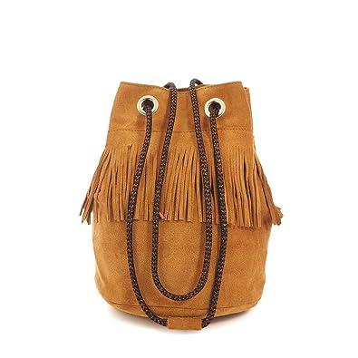43e1287888 C-Oui Sac seau frangé en cuir Carnaby 12: Amazon.fr: Chaussures et Sacs