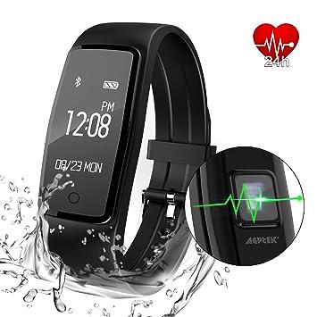 AGPtEK reloj de seguimiento de la frecuencia cardíaca, seguimiento de actividad actualizado con múltiples modos de deportes, IP67 impermeable pantalla ...