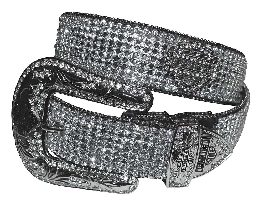 Harley-Davidson Women's Embellished Crystal Saturday Night Belt HDWBT10044 by Harley-Davidson