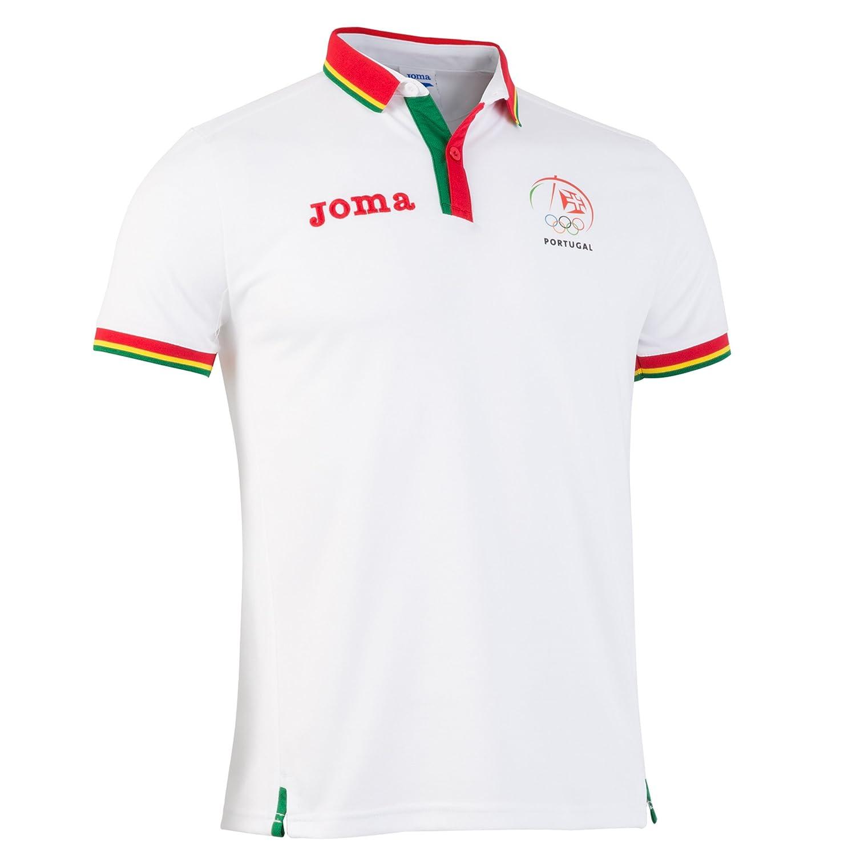 Joma - Polo Shirt Podium C.O. Portugal, Color Blanco, Talla S ...