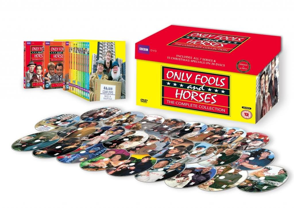 Only Fools And Horses Complete BBC TV Series All Episodes of Classic Comedy DVD Collection [26 Discs] Boxset - Season 1 , 2 , 3 , 4 , 5 , 6 , 7 + Christmas Specials
