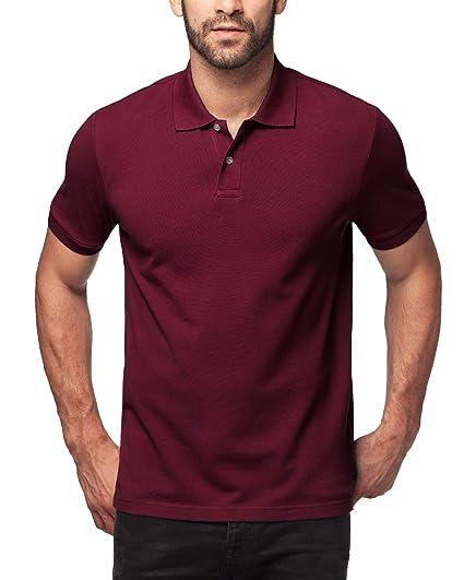 9340fdc3e7 LAPASA Polo Shirt for Men, 100% Cotton, Piqué Knitted Fabric (no Jersey).  Longer Back-Hem, Short Sleeve M19