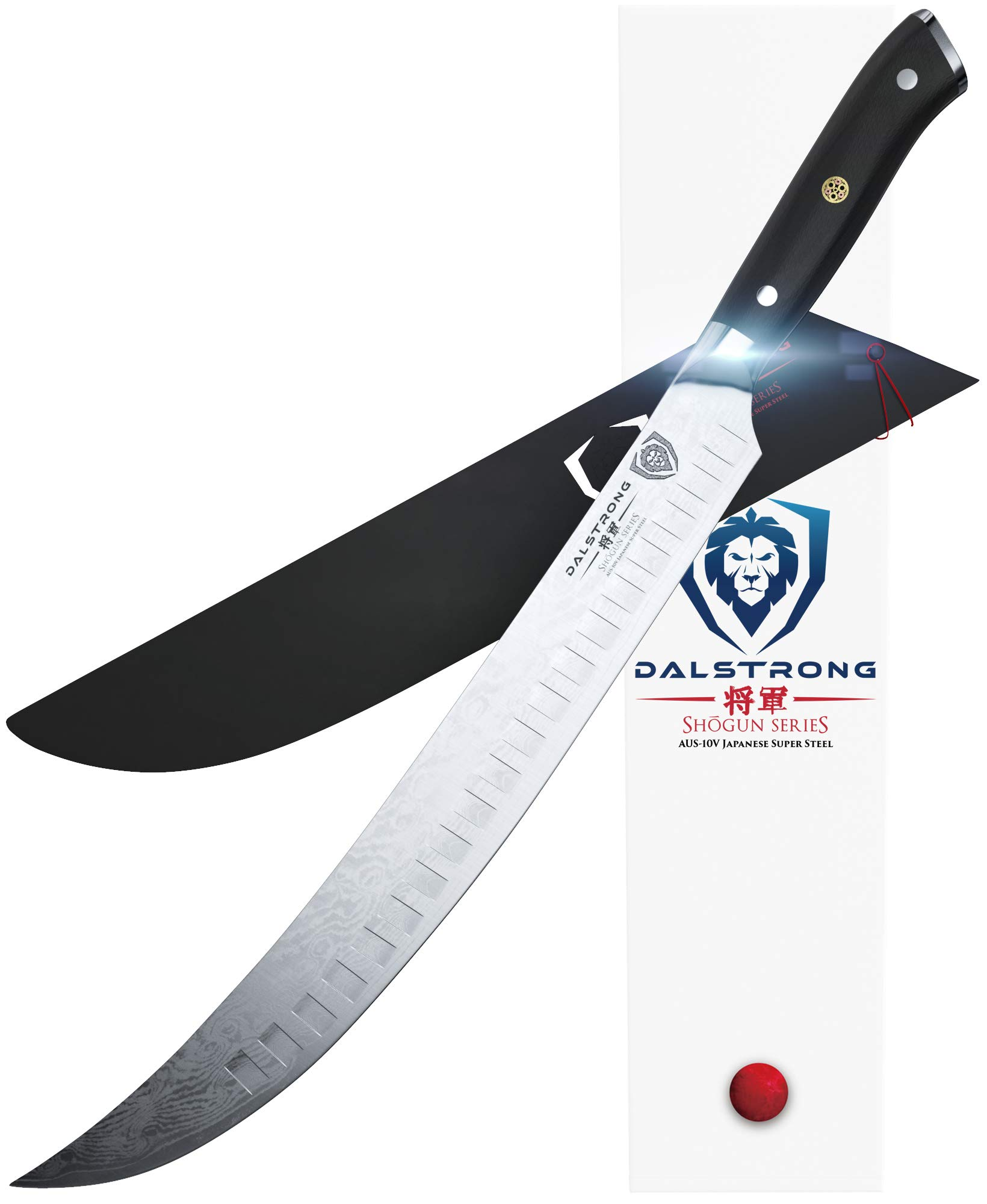 DALSTRONG Butcher's Breaking Cimitar Knife - Shogun Series - Japanese AUS-10V Super Steel - 12.5'' - w/Sheath by Dalstrong