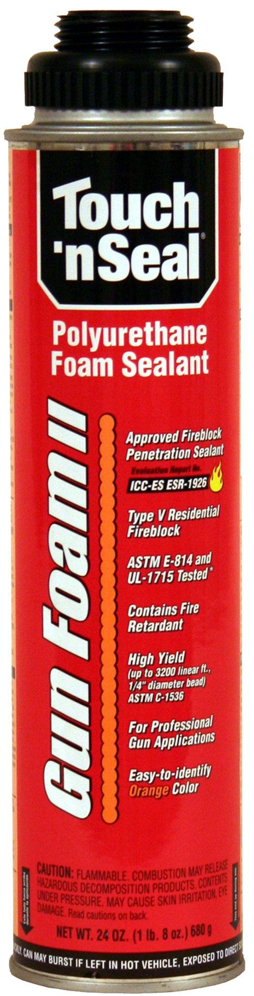 Touch 'n Seal Gun Foam II Fireblocking Polyurethane Foam Sealant, 24 oz Can, Orange