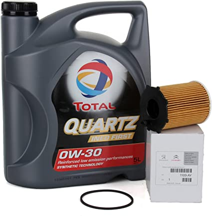 PACK ORIGINAL DUO aceite motor Total Quartz Ineo First 0W-30, 5 ...