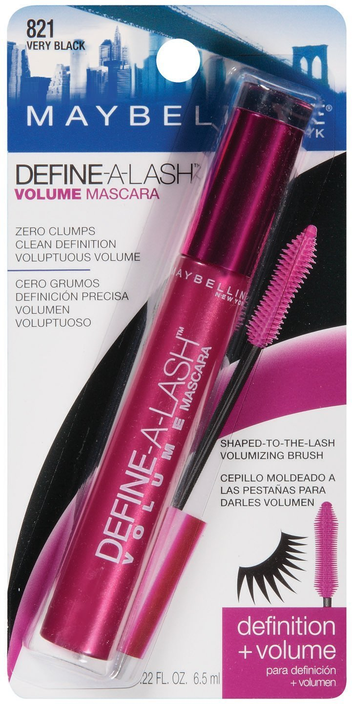 Amazon.com : Maybelline Define A Lash Volume Mascara - Very Black : Beauty