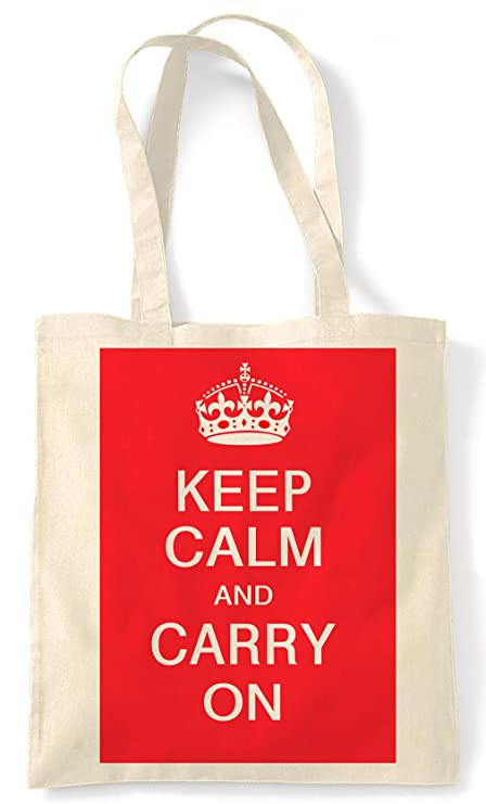 NEW KEEP CALM AND CARRY ON SHOPPING TOTE SHOPPING BAG