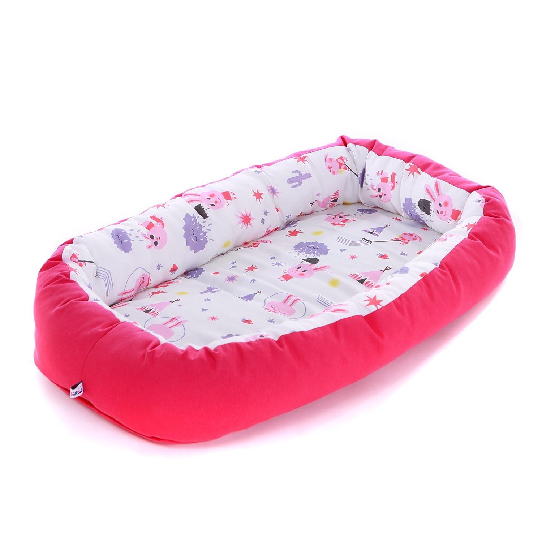 Nido para bebes nest reductor protector cuna para cama desenfundable Edad 0 a 6 meses Cuna viaje portátil Fabricado en España Varios Modelos Tamaño único (Big Apples) SLEEPAA