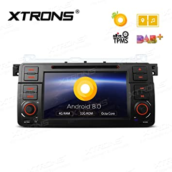 XTRONS 7 Inch Android 8 0 Octa Core 4G RAM 32G ROM Car Stereo HD Digital  Multi-touch Screen DVD Player OBD2 DVR Tire Pressure Monitoring TPMS for  BMW