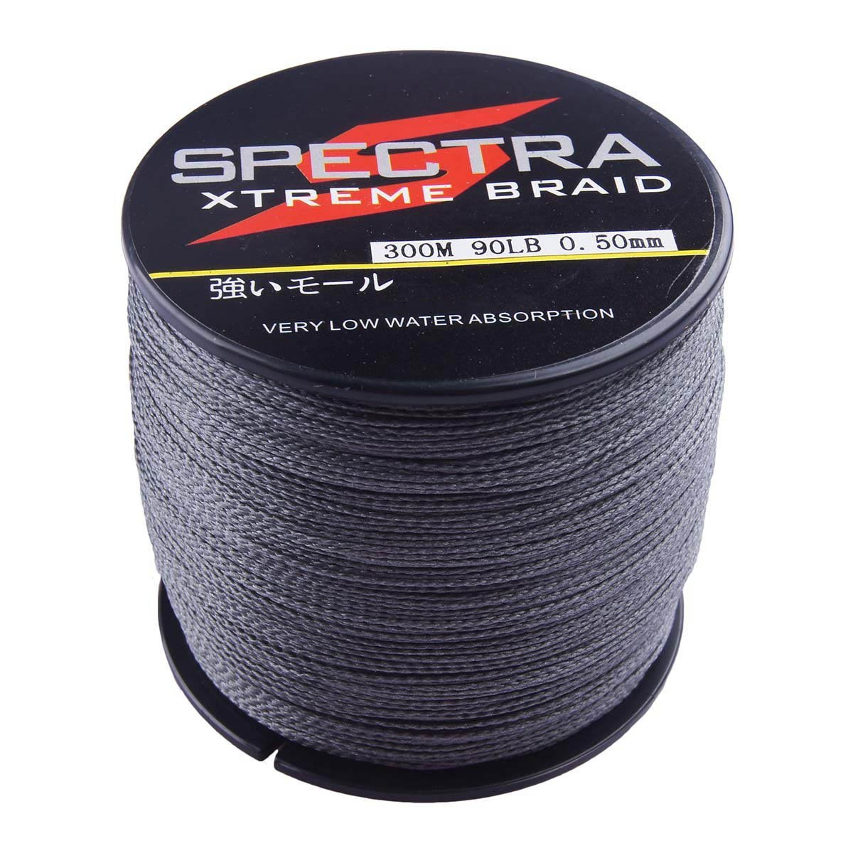 Spectra 100%Pe Braided Fishing Line Gray 100m-2000m 6-300Lb Test