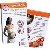 Proud Body ベリーキャストペイントセット アメリカの妊婦の間で流行っている Belly Cast 赤ちゃんで大きくなったママのお腹の型取り 色塗りや 絵を描いたりして楽しめます