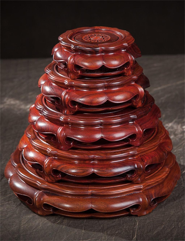 KKCF 木製植物のポットのディスプレイスタンド花のポットの台座スタンド花のポットに適した花瓶のベース花瓶の魚のタンク装飾品のすべての種類 (サイズ さいず : F f) B07KCV5XDR  F f