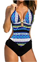 Aidonger Femme Bikini Push-up à Bretelle à Rayure à Pois maillot de bain Triangle