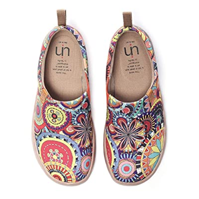 UIN Blossom Women's Men Fashion Tribe Art Sneaker Painted Canvas Slip-On Ladies Travel Shoes Unisex | Loafers & Slip-Ons