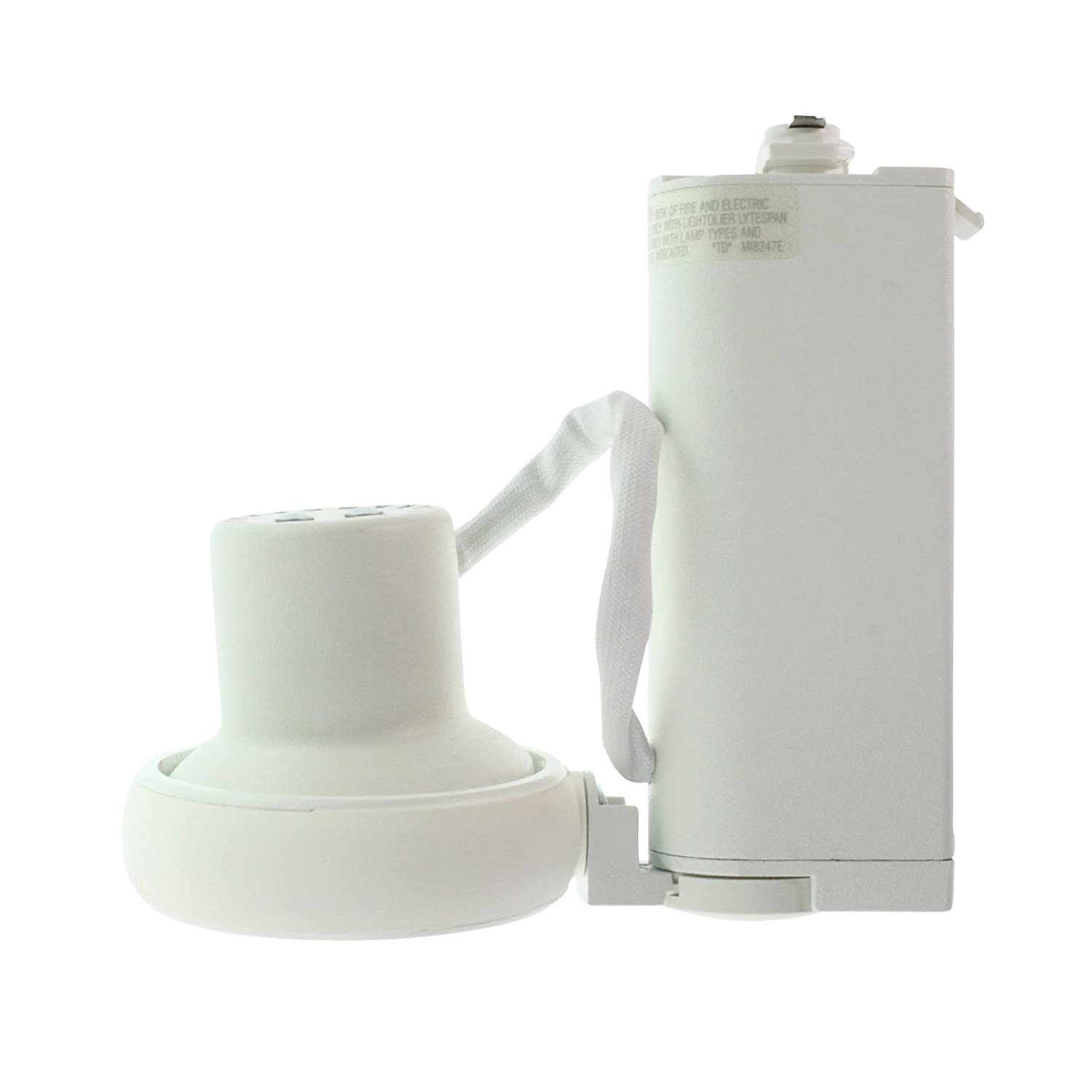 Lightolier 6273bwh lytespan track lighting sof tech low voltage lightolier 6273bwh lytespan track lighting sof tech low voltage enclosed spot white amazon mozeypictures Image collections