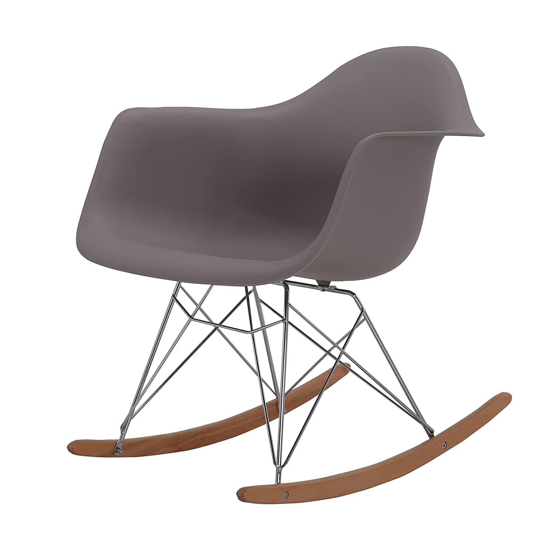 HNNHOME Eames Inspired Rar Lounge Retro Rocker Rocking Chair Leisure  Armchair Panton (Warm Grey): Amazon.co.uk: Kitchen U0026 Home