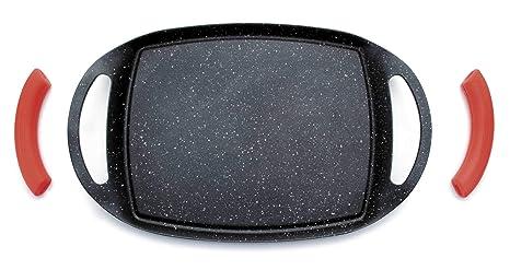 Lacor 25536 - Plancha Grill Eco Piedra 255x20 cm - Negro