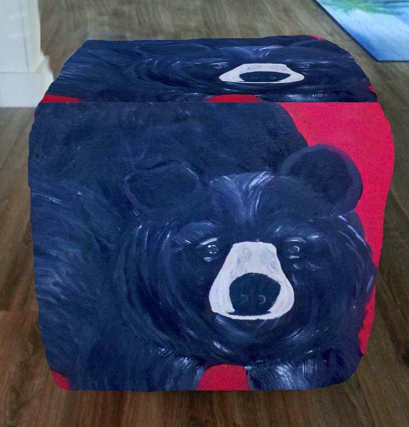Black Bear Ottoman From My Art