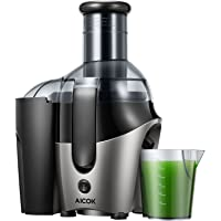 Juicer Juice Extractor, Aicok Juicer Whole Fruit and Vegetable with 75mm Wide Mouth, Juicer Machine with Non-Slip Feet, Overload Protection Centrifugal Juicer for Fruits and Vegetable, 500W, BPA-Free