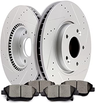 Front Rear Brake Discs Ceramic Pads For 2010-2011 Ford F-150 Performan 8pcs